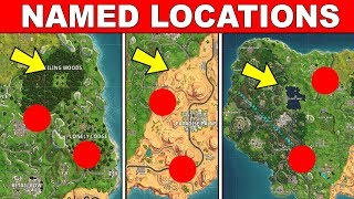 Visit Different NAMED Locations in a Single Match - FORTNITE WEEK 7 CHALLENGES SEASON 5