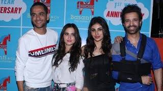 Mouni Roy,Pearl V Puri, Sanjeeda Shaikh & Vikas Gupta At Basanti & co completed 1 year Party