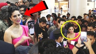 Sunny Leone MOBBED By Fans | Pop Up Star Stuck Store