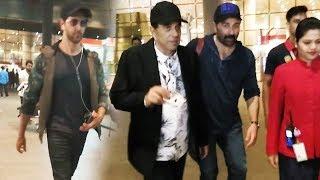 Hrithik Roshan Sunny Deol & Dharmendra SPOTTED At Mumbai International Airport