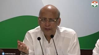 AICC Press Briefing By Abhishek Manu Singhvi on Namami Gange Programme