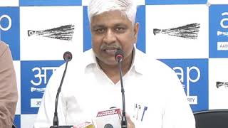 AAP Senior Leader Rajendra Pal Gautam Press Conference
