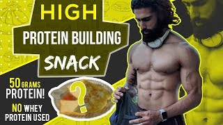 HIGH PROTEIN BODYBUILDING SNACK IN 10 Mins (Quick and Easy) | Muscle Building Recipes