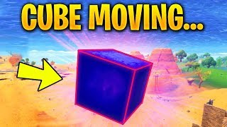 FORTNTIE CUBE MOVING EVENT - WE STOPPED THE CUBE IN FORTNITE BATTLE ROYALE
