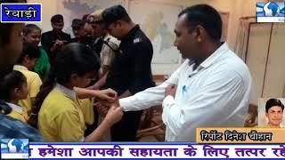 स्कूली छात्राओं ने राजेश दुग्गल सहित अन्य पुलिसकर्मियों को राखी बांधकर मनाया रक्षाबंधन