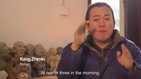 The deaf potter Kang Zhimin