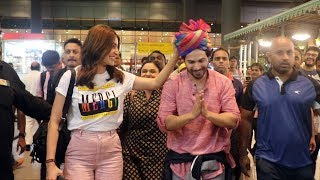 Varun Dhawan And Anushka Sharma Spotted At Airport, Returns From Sui Dhaaga Promotion