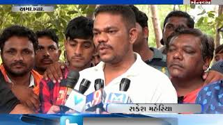 street merchant's oppose of traffic drive in Ahmedabad