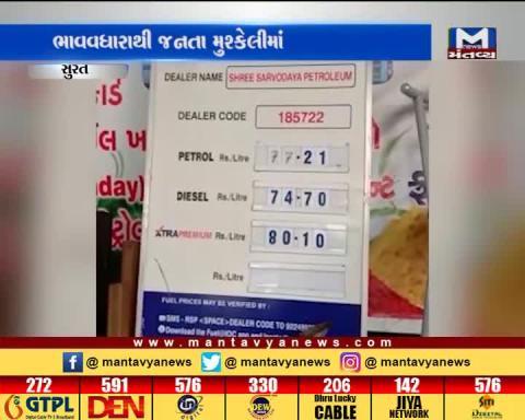 Petrol and Diesel prices hike in Surat