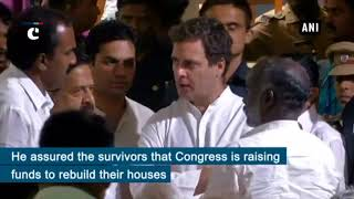 Rahul Gandhi visits relief camps in North Paravur, assures help