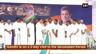 Kerala floods: Rahul Gandhi flags off trucks loaded with relief material