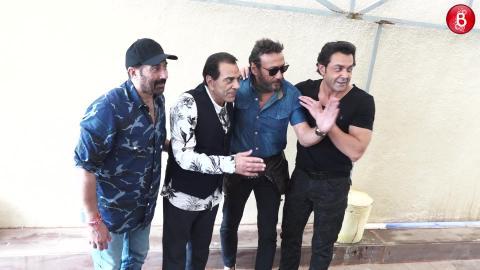 Dharmendra Promotes 'Yamla Pagla Deewana Phir Se' With Jackie Shroff & Sons Bobby, Sunny!