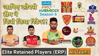 21 Retained player list for Prokabaddi 2018. | ERP-Elite Retained Player. || By KabaddiGuru ! ||