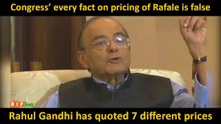 Congress' every fact on pricing of Rafale is false