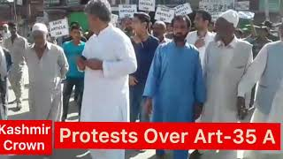 #Art35A Peaceful Protest Over Art-35A In Rohama Baramulla.