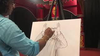USA 2018 | Navneet Agnihotri | Live Painting | Sai Bhajan | Shirdi | Live Darshan | SaiBaba Painting