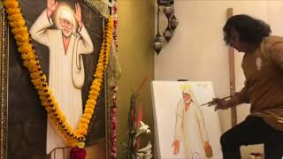 Singapore | Navneet Agnihotri | Live Painting | Shirdi Sai Baba Bhajans |15th July 2018 | Sunil