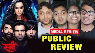 STREE FIRST PUBLIC REVIEW | Media Review | Shraddha, Rajkummar Rao, Pankaj Tripathi, Aparshakti