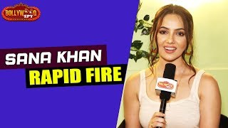 Shahrukh Khan Is My Childhood Crush | Salman Shirtless | Rapid Fire Round With Sana Khan