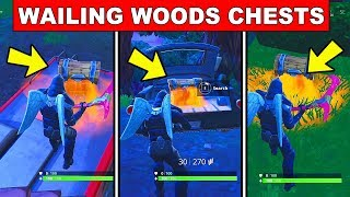Search Chests in Wailing Woods - FORTNITE WEEK 8 CHALLENGES SEASON 5