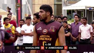 3BL Season 1 Round 5(Bangalore) - Full Game - Day 2(QF) - Bangalore Machas vs Ahmedabad Wingers