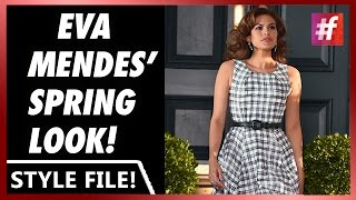 fame hollywood -​​ Eva Mendes Looks Gorgeous in Sun Dress Post Baby
