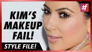 fame hollywood - Kim Kardashian's Contouring Slip Up!