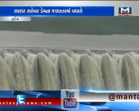 The surface of Narmada dam has reached 121.68 meters