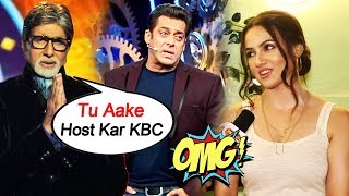 Sana Khan Reaction On STARDOM VS STORY Of The Film, Amitabh Bachchan INVITES Salman To Host KBC