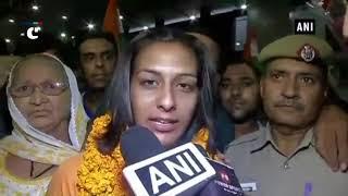 Asian Games 2018: Silver winner Pincky Balhara receives warm welcome at Delhi airport