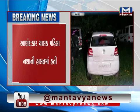 A girl was found drunk driving when she collided with an autorickshaw.