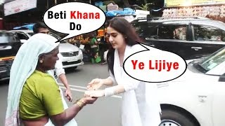 Beggar Asked FOOD From Sara Ali Khan, What Happened Next Will Melt Your Heart