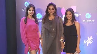 Actress Madhoo Shah With Gorgeous Daughters Ameya And Keia At Shweta Bachchan New Label Mxs Launch
