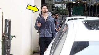 Tiger Shroff Spotted At Satyam Dance Classes Juhu