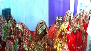 Marriage Of 11 Girls In Hyderabad By Minority Development Welfare Society | @ SACH NEWS |