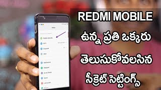 Redmi mobile Hidden Features | Miui secret settings Telugu