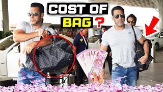 Salman Khan Carries A Louis Vuitton BAG At Airport, Cost Of BAG Will Shock You