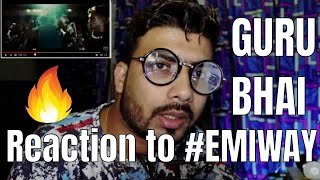 Reaction to Emiway by Guru Bhai (Rapper) | Reaction with Knowladge Video | Hindi Rap