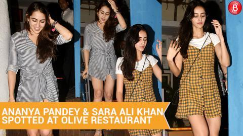 Ananya Pandey & Sara Ali Khan Spotted At Olive Restaurant