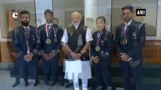 PM Modi meets Asian Games 2018 winners