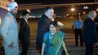 EAM Sushma Swaraj receives US Secretary of State Mike Pompeo