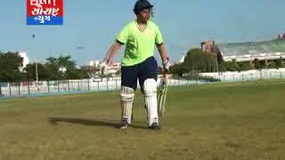 રાજકોટ ભાજપ પ્રમુખના પુત્રનું અકસ્માત બાદ કુત્રિમ પગ બેસાડી રમે છે ક્રિકેટ મેચ