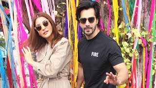Varun Dhawan And Anushka Sharma Promoting Sui Dhaaga At Wilson College
