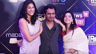 Sacred Games Stars Ganesh Gaitonde And Kukoo At IReel Awards 2018 | Kubra Sait, Nawazuddin Siddiqui