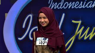 Senyuman dari Junior ini, mengalihkan fokus Rizky Febian! - Indonesian Idol Junior 2018