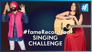 fameRecordTod | Singing Challenge | Funny Romantic Songs