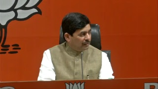 Press Briefing by Syed Shahnawaz Hussain at BJP Central Office, New Delhi