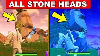 Visit Different Stone Heads - FORTNITE WEEK 9 CHALLENGES SEASON 5