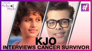 Karan Johar Interviews 2-time Cancer Survivor | #fame School Of Style