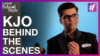 Karan Johar - Behind The Scenes | fame School Of Style